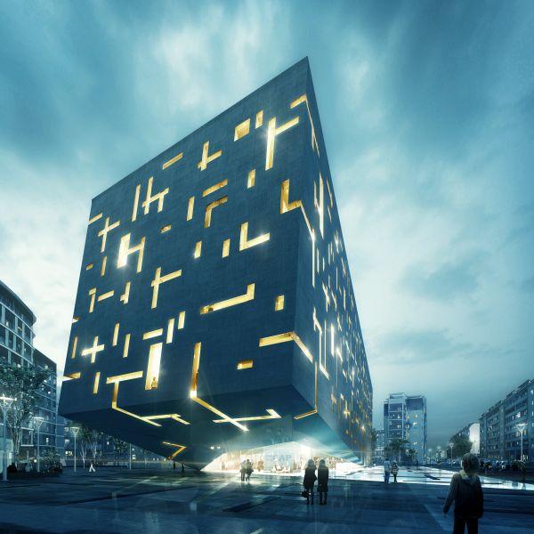 Render della nuova sede di Cap Holding a Milano (render CL&AA)