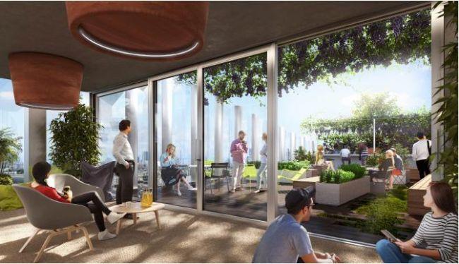 Le terrazze verdi che caratterizzano il progetto di riqualificazione urbana Vitae