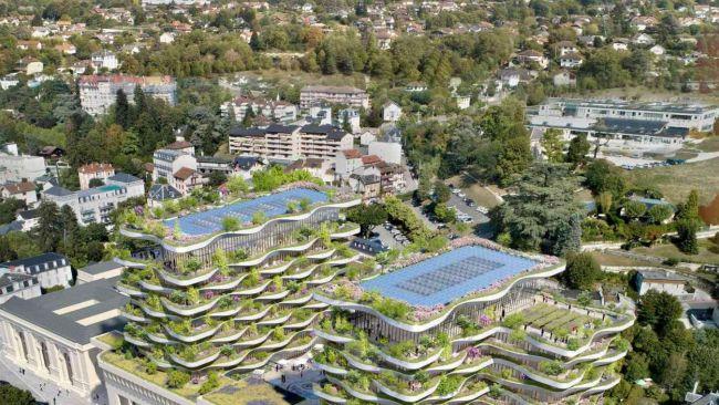 The Foam of Wave è il progetto di riqualificazione delle terme di Aix les Bains