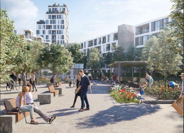 Progetto l'Innesto a Milano Greco con spazi condivisi per l'abitare sostenibile