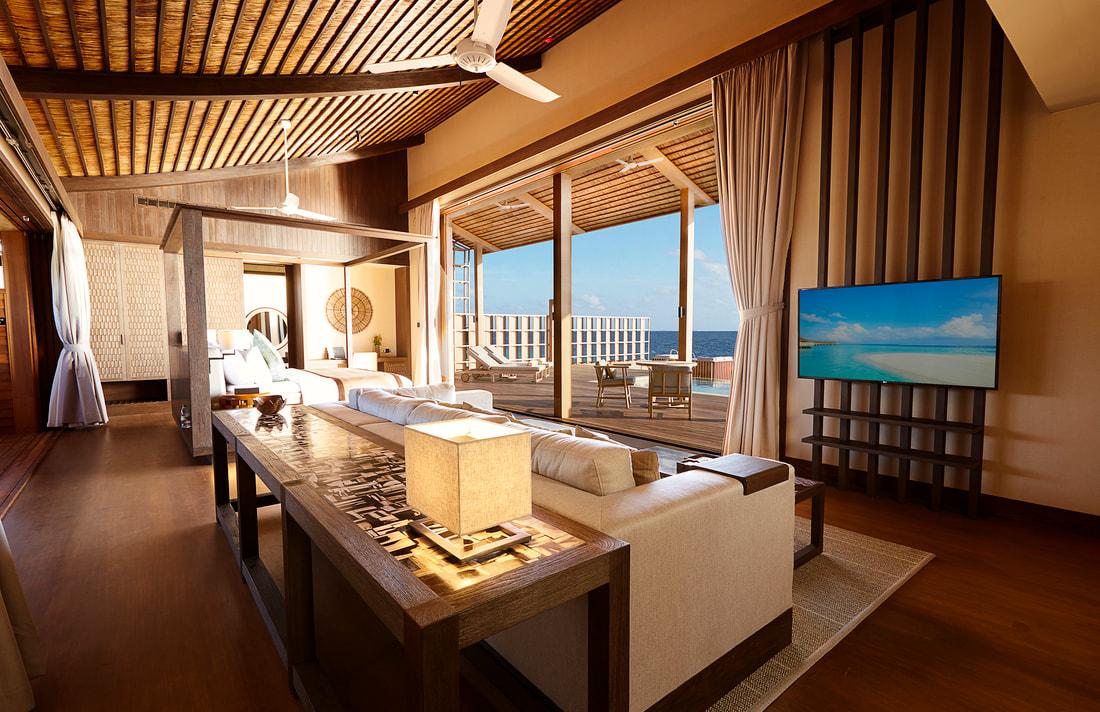 Eco Resort Kudadoo Maldives realizzato in legno e materiali ecocompatibili