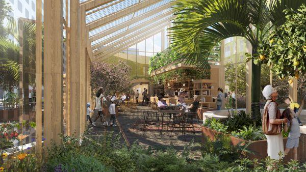 Gli spazi verdi di Urban Village, progetto Reinventing Cities a Oslo