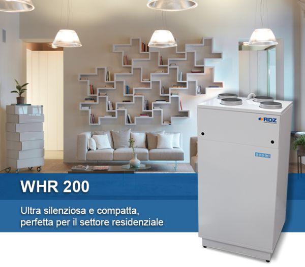 RDZ: Unità di ventilazione meccanica controllata con recupero di calore WHR 200