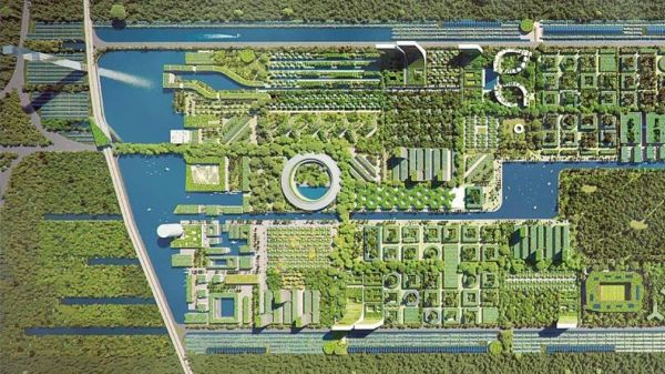 Masterplan del progetto Forest City in Messico di Stefano Boeri