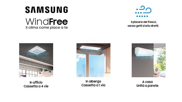 climatizzatore Samsung WindFree, addio ai getti diretti di aria condizionata