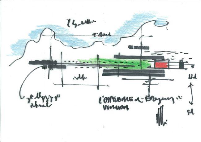 Disegni Renzo Piano nuovo ospedale di Emergency in Uganda