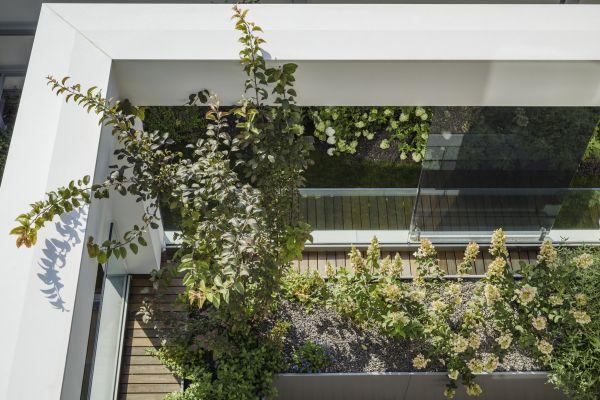 Casa sul Parco a Fidenza: giardini pensili in ogni piano