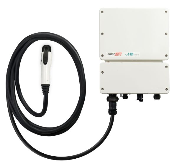 Solaredge:inverter monofase con caricabatterie per veicoli elettrici e il caricabatterie smart per veicoli elettrici.