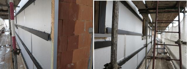 Isotec Parete per l'isolamento delle facciata di un nuovo edificio a Pinerolo