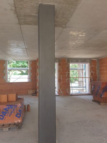 Rivestimento pilastri in cemento armato con PRIMATE PHONO 5 AD