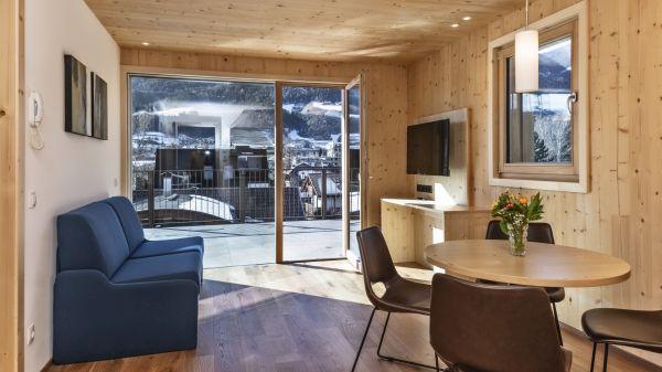 Uno degli appartamenti del residence Nives a Bressanone