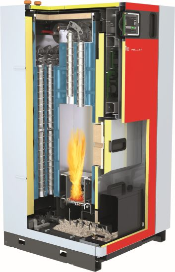 Riscaldamento ecologico con la caldaia a condensazione a pellet PE1c