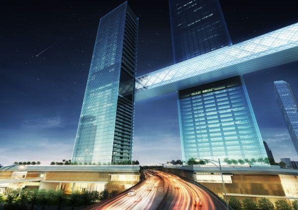 The Link: il grattacielo orizzontale nello skyline di DubaiThe Link: il grattacielo orizzontale nello skyline di Dubai