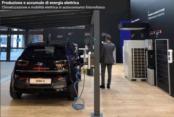 Pensilina fotovoltaica Viessmann per le attività ricettive