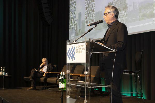 L'architetto Stefano Boeri alla conferenza stampa Vaillant Italia