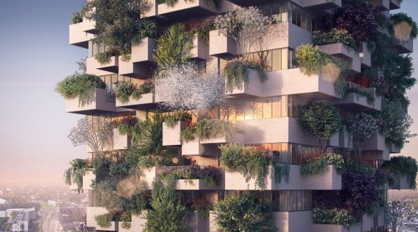 Progetto Bosco Verticale in social housing a a Eindhoven