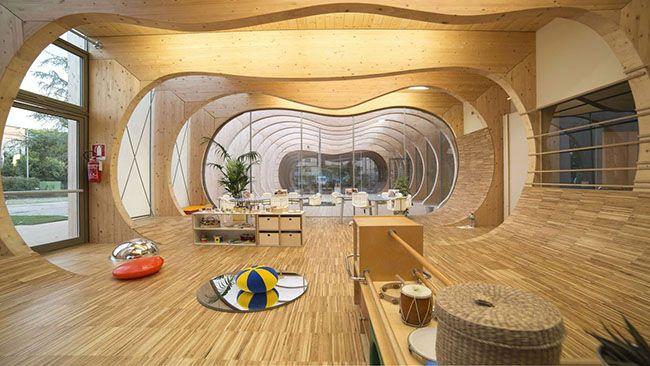 Asilo nido a Guastalla di MCA: legno e sostenibilità