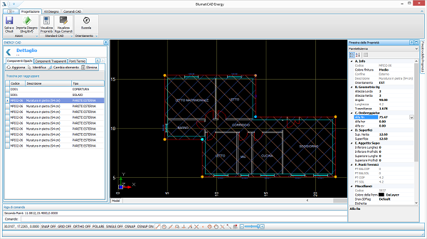 Schermata CAD Software Blumatica Energy