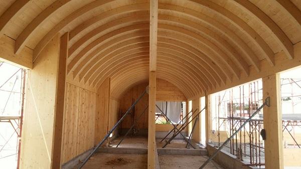 Costruzione in legno e sughero del centro diurno