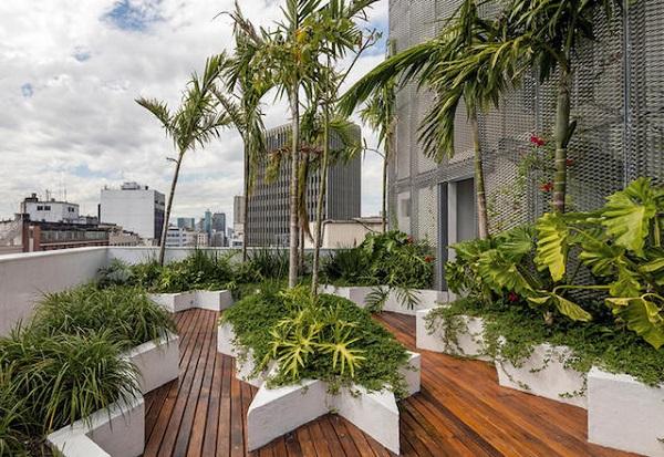 terrazzo green del grattacielo