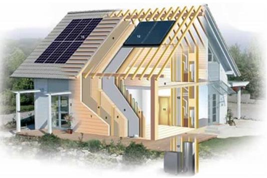 Un esempio di struttura di edificio ad energia quasi zero nZEB