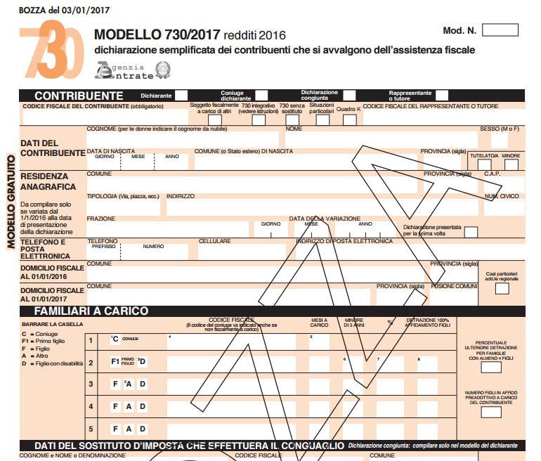 Detrazioni fiscali online la bozza e le istruzioni del for Detrazioni fiscali 2017 agenzia delle entrate