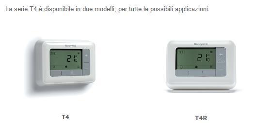 Cronotermostato T4, disponibile in 2 modelli