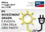 PV Investment Grade, convegno a Milano l'11 luglio 2017