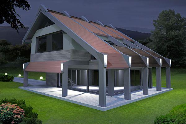 Giugiaro design firma le nuove case prefabbricate di wood for Stili di case esterni