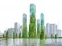X_PUR: grattacieli che spuntano dall'acqua ricoperti da fitta vegetazione
