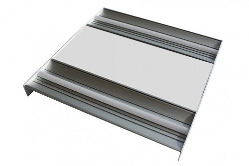 Plafoniera Incasso Led 60x60 : Plafoniera incasso 60x60 cm 2profili 4x12w 4.200 lumen