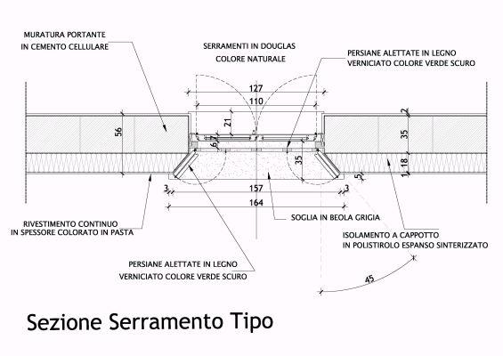 Complesso residenziale fontanile visconti - Finestre in pianta ...