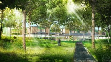 Hospice pediatrico a Bologna immerso nel bosco firmato Renzo Piano