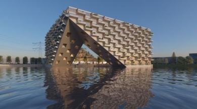 Le case galleggianti energia zero di Amsterdam