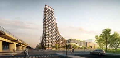 CPH Common House, il grattacielo di Copenaghen realizzato con il riciclo dei materiali