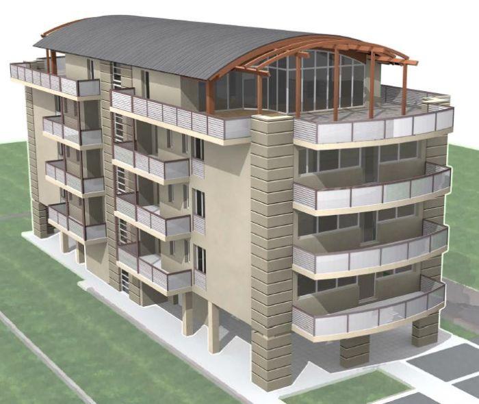 Condominio in classe a for Progetti appartamenti moderni