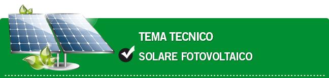 Solare fotovoltaico
