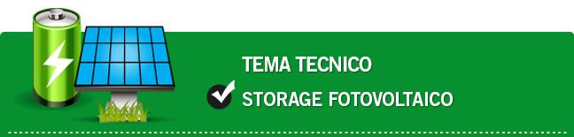 Storage - Sistemi di accumulo