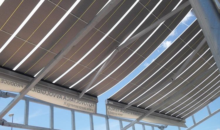 Tenda fotovoltaica Aurora