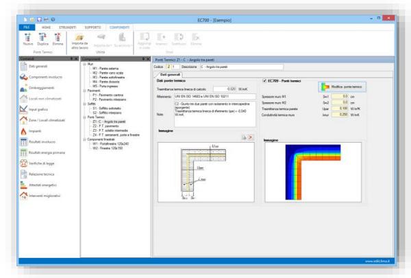 : Software per la valutazione della trasmittanza termica lineica dei ponti termiciEdilclima EC