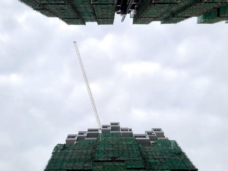 Terminata la struttura del Bosco verticale di Huanggang in Cina