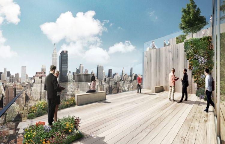 The Spiral a New York, una delle terrazze