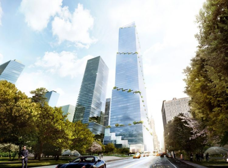 La torre green di New York per lavorare immersi nella natura