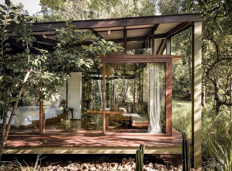 progetto Tetra Tiny House realizzato con materiale riciclato
