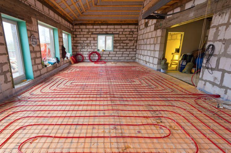 Riscaldamento radiante a pavimento, soffitto o parete