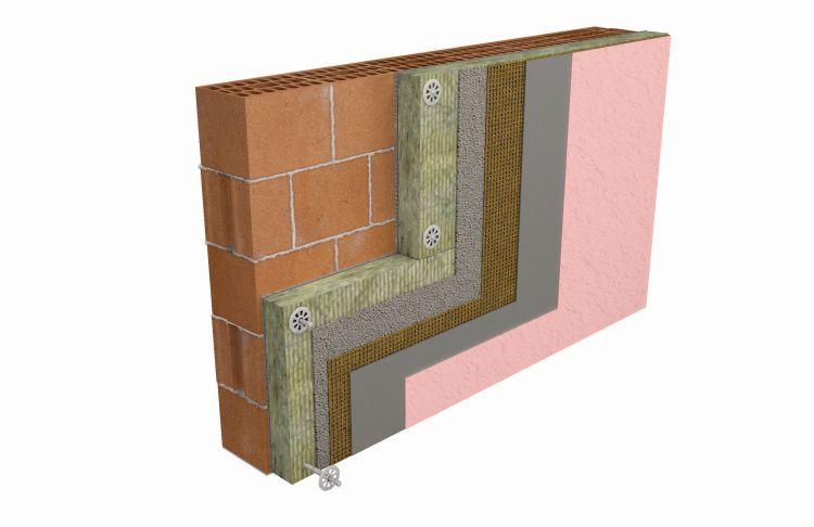 Sistema a Cappotto termico Settef Thermophon Mineral con pannelli isolanti in lana di roccia