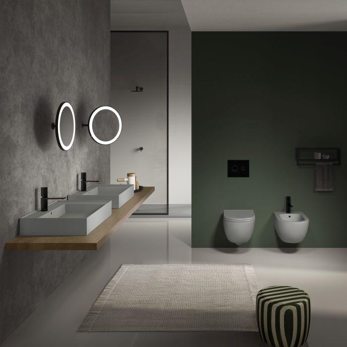Ceramica Cielo, collezione Enjoy di Karim Rashid per i bagni del Green Pea di Torino