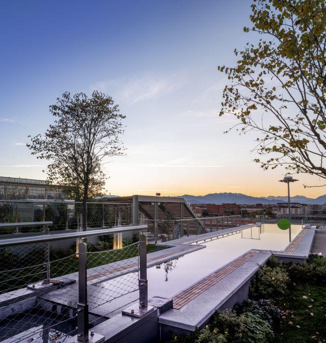 Progetto Green Pea, la piscina in copertura