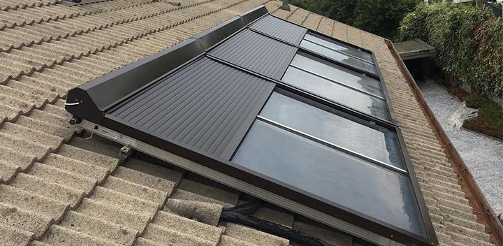 Protezione automatica, resistente e adattabile per pannelli solari