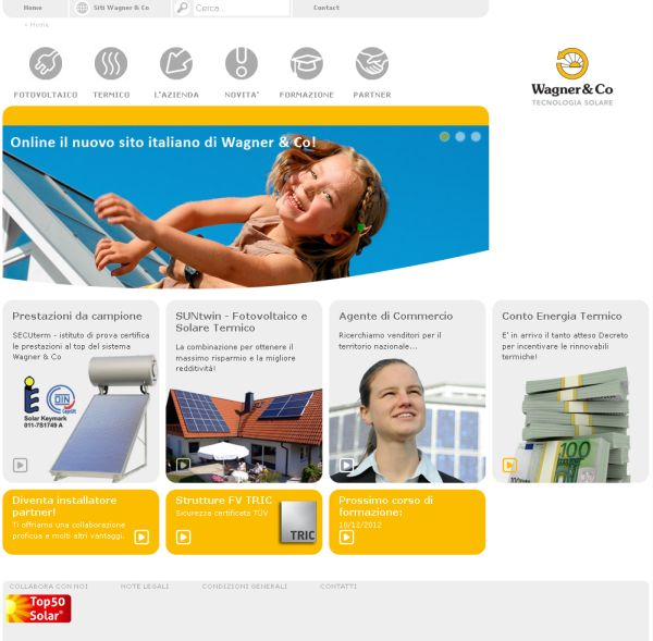 Un nuovo sito per Wagner & Co